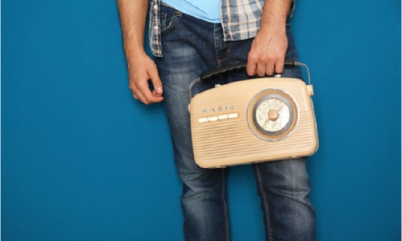 Man-holding-radio